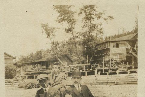 Issei friends on an outing (ddr-densho-124-31)