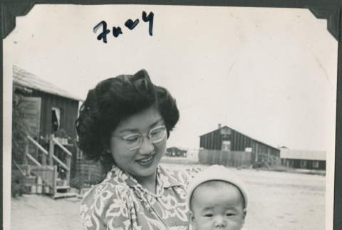 Woman with baby (ddr-densho-321-96)