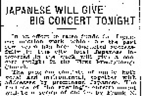 Japanese Will Give Big Concert Tonight (March 29, 1910) (ddr-densho-56-161)