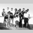 Group gathering at the beach (ddr-densho-136-7)