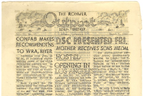 Rohwer Outpost: Vol. 6, No. 21 (March 7, 1945) (ddr-janm-6-8)