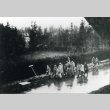 Prisoners on the death march from Dachau concentration camp (ddr-densho-22-116)