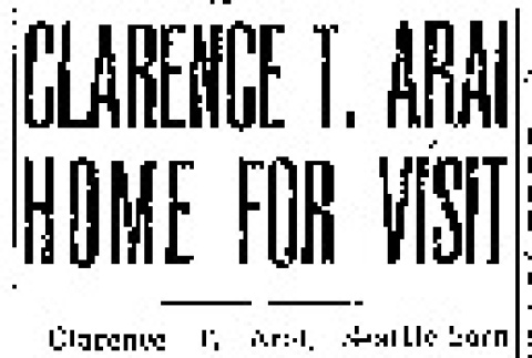 Clarence T. Arai Home for Visit (January 25, 1945) (ddr-densho-56-1098)