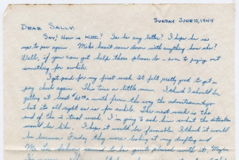 Letter to Sally Domoto from Kan Domoto (ddr-densho-329-179)