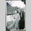 Soldier in front of tents (ddr-densho-201-530)