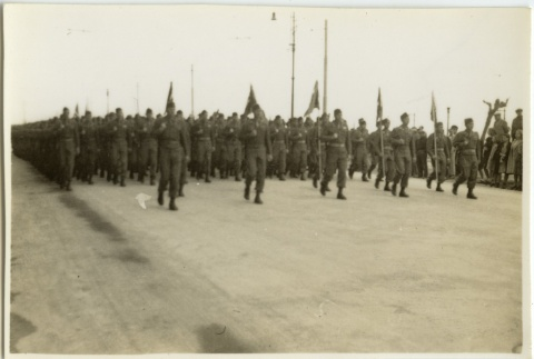 Soldiers marching in formation (ddr-densho-201-123)