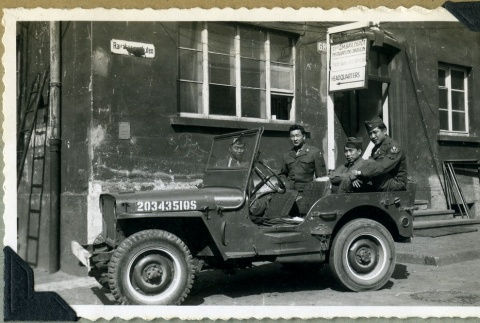 Soldiers in a jeep (ddr-densho-22-81)