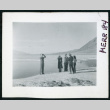 Photograph of L. Josephine Hawes and Theo Chamberlain in front of standing water at Bad Water in Death Valley (ddr-csujad-47-101)