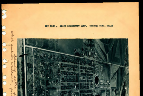 Sky view: alien internment camp, Crystal City, Texas (ddr-csujad-55-1356)