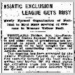 Asiatic Exclusion League Gets Busy. Newly Formed Organization of Portland to Hold Mass Meeting of Citizens to Discuss Yellow Peril. (January 10, 1908) (ddr-densho-56-111)