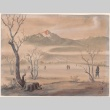 Painting of Manzanar and the Sierra Nevada (ddr-manz-2-75)