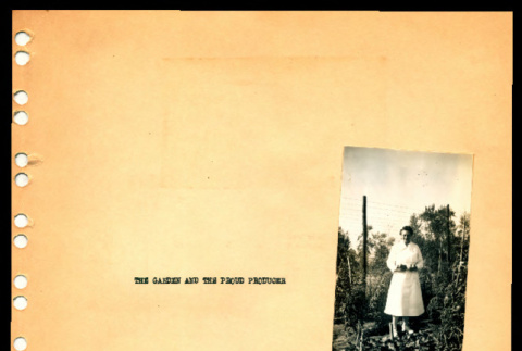 Mary Clark in her garden and an aerial view of Ft. Missoula main area (ddr-csujad-55-1340)