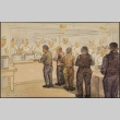 Painting of a mess hall scene (ddr-manz-2-19)