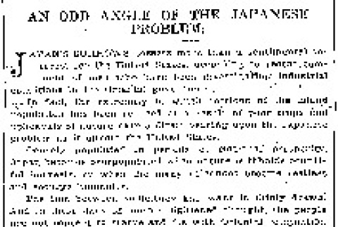 An Odd Angle of the Japanese Problem. (May 13, 1914) (ddr-densho-56-249)