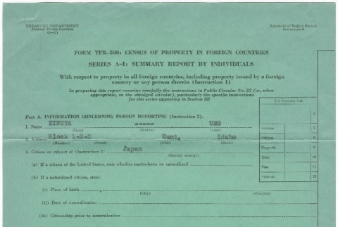 Census of property in foreign countries (ddr-densho-324-79)