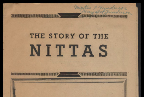 Story of the Nittas (ddr-csujad-55-342)
