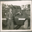 Soldier in front of a tank (ddr-densho-201-518)