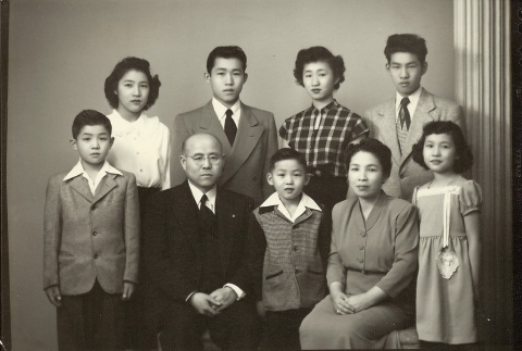 Issei minister and family (ddr-densho-310-4)