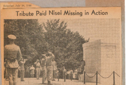 Tribute paid Nisei missing in action (ddr-csujad-49-240)
