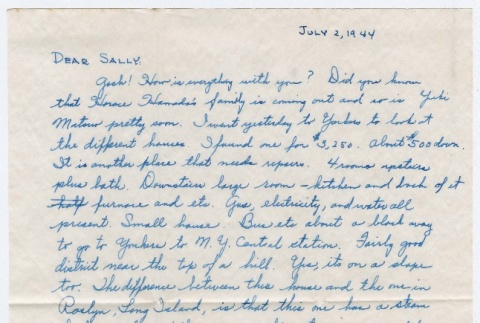 Letter to Sally Domoto from Kan Domoto (ddr-densho-329-185)