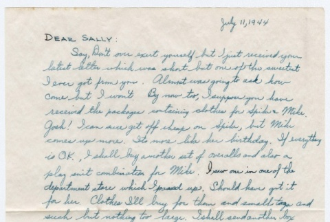 Letter to Sally Domoto from Kan Domoto (ddr-densho-329-188)