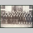 Group of boys and girls standing outside building (ddr-densho-330-148)