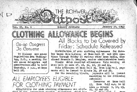 Rohwer Outpost Vol. II No. 6 (January 20, 1943) (ddr-densho-143-25)