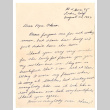 Letter from [Akiko] Ann Tanimoto to Mrs. S. Okine, August 28, 1952 (ddr-csujad-5-277)