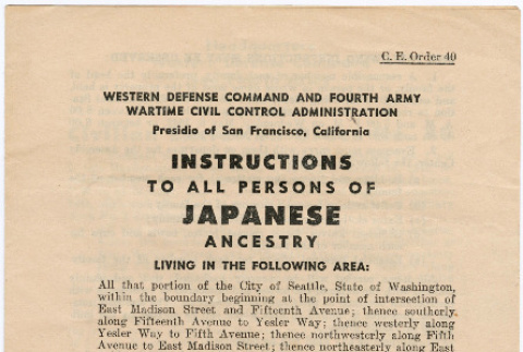Instructions to all persons of Japanese ancestry (ddr-densho-381-1)