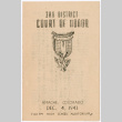 Third District Court of Honor invitation and program (ddr-densho-390-119)