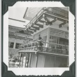 A woman standing on the deck of the Japan Pavilion at the Golden Gate International Exposition (ddr-densho-300-209)