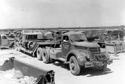 Japanese American in a camp truck (ddr-densho-2-43)