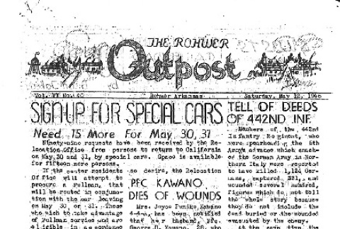 Rohwer Outpost Vol. VI No. 40 (May 12, 1945) (ddr-densho-143-269)