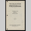 Relocation program: a guidebook for the residents of relocation centers (ddr-csujad-55-345)