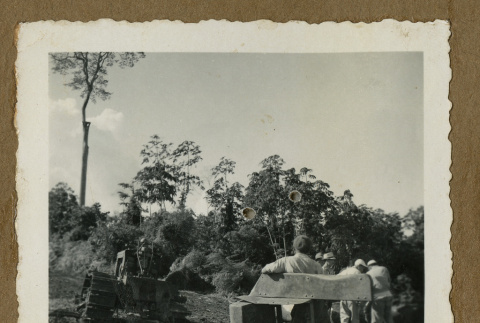 Japanese Peruvians with a logging equipment (ddr-csujad-33-73)