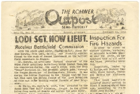 Rohwer Outpost: Vol. 6, No. 17 (February 21, 1945) (ddr-janm-6-7)