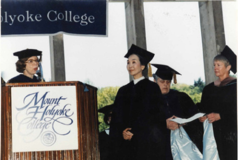 Photograph of Michi Weglyn at Mount Holyoke College in 1994 (ddr-csujad-24-82)