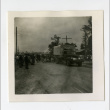 Covered truck leaving Jerome camp for Tule Lake camp (ddr-csujad-38-86)