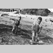 Two children playing on the beach (ddr-densho-20-8)
