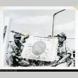 Nisei soldiers with captured Japanese flag (ddr-densho-179-63)