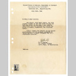 Letter from W. S. Hislop, Sr. Plumber Foreman, Ass't. Supt. of Construction, Operation Division, Engineering Section, War Relocation Authority, United States of America Department of Interior, July 24, 1944 (ddr-csujad-42-100)