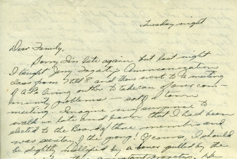 Letter from a camp teacher to her family (ddr-densho-171-31)
