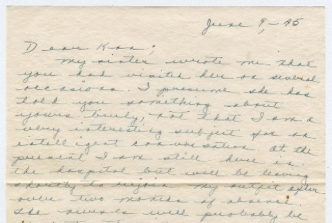 Letter to Kan Domoto from Eric Andow (ddr-densho-329-268)