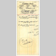 Receipt for order of graduation announcements and calling cards from Chalfant Press (ddr-csujad-48-77)
