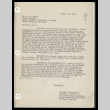 Letter from Minejijro Hayashida, Chairman, Council of Temporary Block Chairman, to Mr. Ernest L. Hawes, Chief Steward, September 26, 1942 (ddr-csujad-55-281)