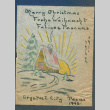 Program from Christmas party for medical staff at Crystal City Department of Justice Internment Camp (ddr-csujad-55-1387)