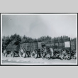 Photograph of a borax wagon at Furnace Creek Camp in Death Valley (ddr-csujad-47-103)