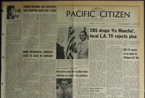 Pacific Citizen, Vol. 74, No. 18 (May 12, 1972) (ddr-pc-44-18)