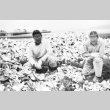 Two men with oyster shells (ddr-densho-15-120)