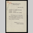 Memo from the Hearing Committee, Community Council Office, Heart Mountain, to Mr. Keijiro Hoshizaki, April 20, 1944 (ddr-csujad-55-926)